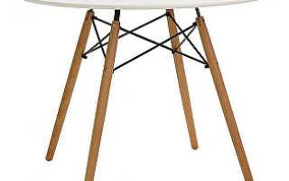 Круглые столы на одной ножке: маленькая белая мебель на хромированной ножке