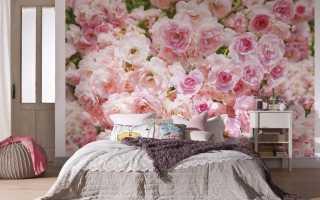 Обои с розами (51 фото): покрытия на стену с белыми и красными розами